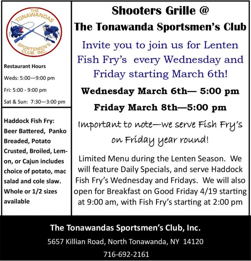 Lenten Fish Fry at TSC